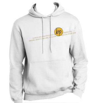BP white hoodie unisex front